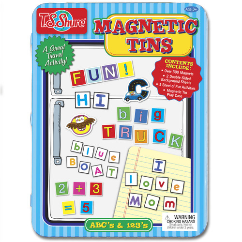 Alphabet & Numbers Magnetic Tin Playset | T.S. Shure