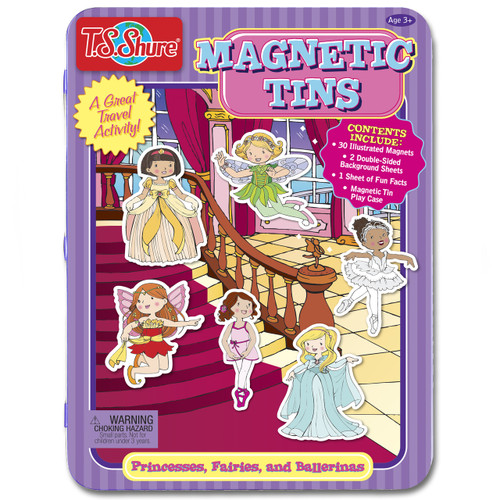 Princesses, Fairies & Ballerinas Magnetic Tin Playset | T.S. Shure