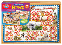 PuzBox American Presidents: 2 Puzzles in Jumbo Box | T.S. Shure