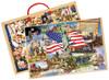 PuzBoxÇ__¶_¶œÇ_¶½ American Presidents: 2 Puzzles in Jumbo Box | T.S. Shure