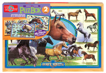 PuzBox  Horse Breeds: 2 Puzzles in Jumbo Box | T.S. Shure