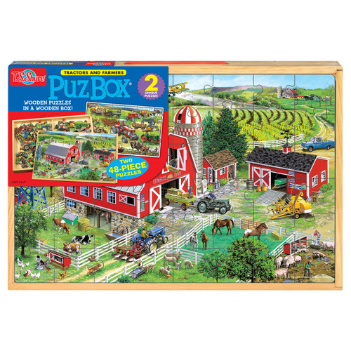 PuzBox_¶_¶½ American Tractors: 2 Puzzles in Jumbo Box | T.S. Shure