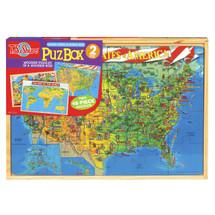 PuzBox  U.S. & World Map: 2 Puzzles in Jumbo Box | T.S. Shure
