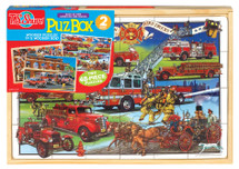 Back in Time American Fire Trucks Jumbo Wooden PuzBox | T.S. Shure