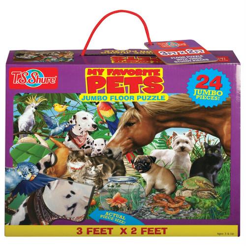 My Favorite Pets Jumbo Floor Puzzle   T.S. Shure