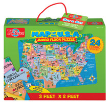 Map of the U.S.A. Jumbo Floor Puzzle   T.S. Shure