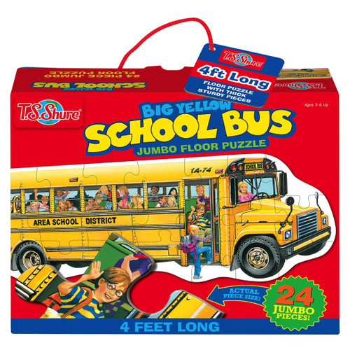 Big Yellow School Bus Shaped Jumbo Floor Puzzle | T.S. Shure