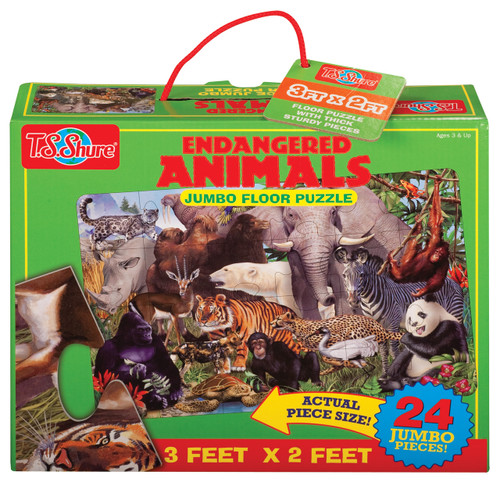 Endangered Animals Jumbo Floor Puzzle | T.S. Shure