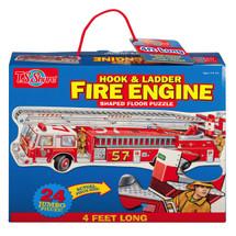 Hook & Ladder Fire Engine Shaped Jumbo Floor Puzzle | T.S. Shure