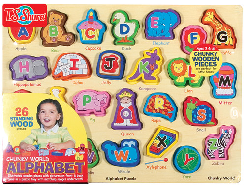 Chunky World Alphabet Wooden Puzzle | T.S. Shure
