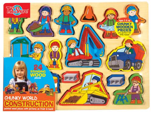 Chunky WorldÇ__¶_¶œÇ_¶½ Construction Wooden Puzzle   T.S. Shure