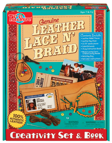 Leather Lace N' Braid Creativity Set & Book | T.S. Shure