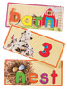 Match 'N Learn Wooden Puzzle Cards - Alphabet & Numbers | T.S. Shure