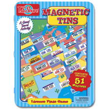 License Plate Game Magnetic Tin Playset | T.S. Shure