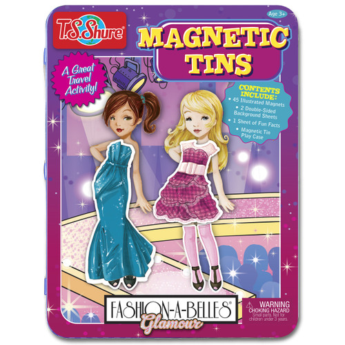 Fashion-A-Belles Glamour Magnetic Tin Playset | T.S. Shure