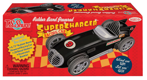 Rubber Band Powered Super Charger Model Racing Car Kit | T.S. Shure