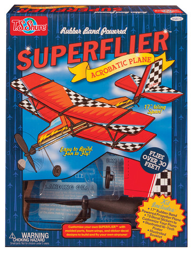 Rubber Band Powered SuperFlier Model Airplane Kit | T.S. Shure