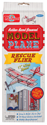 Rubber Band Powered Rescue Flier Model Airplane Kit | T.S. Shure