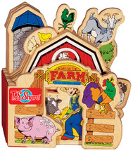 A Day on the Farm Wooden Storybook   T.S. Shure