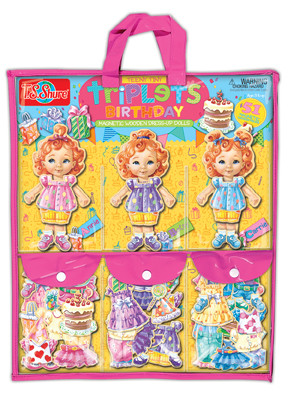 Teeny Tiny Triplets Birthday Party Dress-Up Dolls | T.S. Shure