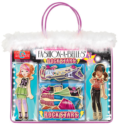 Fashion-A-Belles Rock Stars Magnetic Wooden Dress-Up Dolls | T.S. Shure