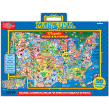 Map of the U.S.A. Magnetic Puzzle & Playboard | T.S. Shure