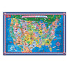 Pictorial Map of the U.S.A. - Laminated Poster with Stickers | T.S. Shure