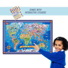 Pictorial Map of the World - Laminated Poster with Stickers | T.S. Shure