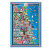 Pictorial Map of Chicago - Laminated Poster with Stickers | T.S. Shure