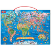 Wooden Magnetic Map of the World Puzzle | T.S. Shure