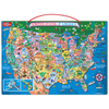 Wooden Magnetic Map of the United States | T.S. Shure