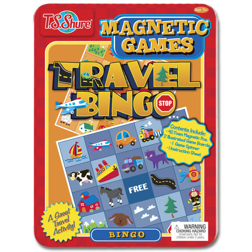 Travel Bingo Magnetic Game Tin | T.S. Shure