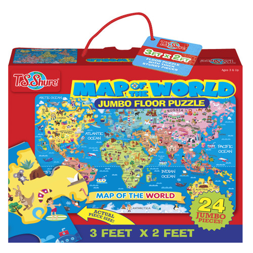 Map of the World Jumbo Floor Puzzle | T.S. Shure