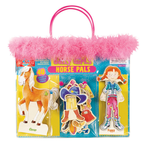 Daisy Girls Horse Pals Wooden Magnetic Dress-Up Set | T.S. Shure