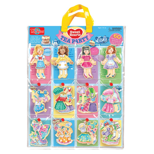 Sweets Hearts Tea Party Wooden Magnetic Dress-Up Dolls | T.S. Shure