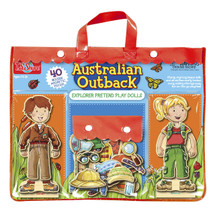 Australian Outback Explorers Wooden Magnetic Pretend Play Dolls | T.S. Shure