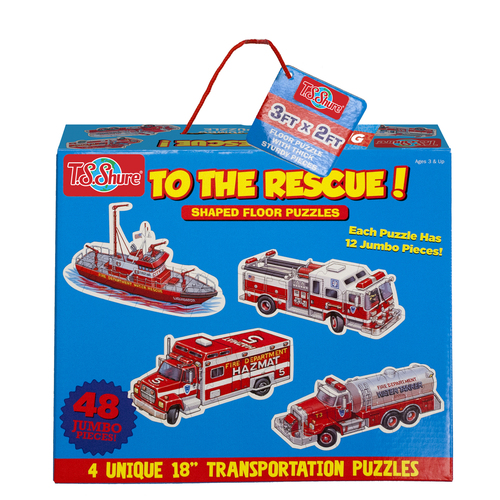 To The Rescue! Jumbo Floor Puzzles | T.S. Shure