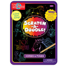 Scratch-A-Doodle Horses & Ponies Activity Tin | T.S. Shure