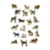 Dogs Wooden Magnets - 20 Piece MagnaFun Set | T.S. Shure