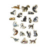 Cats Wooden Magnets - 20 Piece MagnaFun Set | T.S. Shure