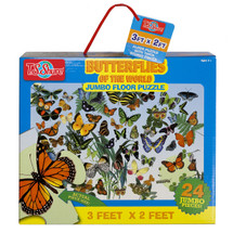 Butterflies of the World Jumbo Floor Puzzle | T.S. Shure