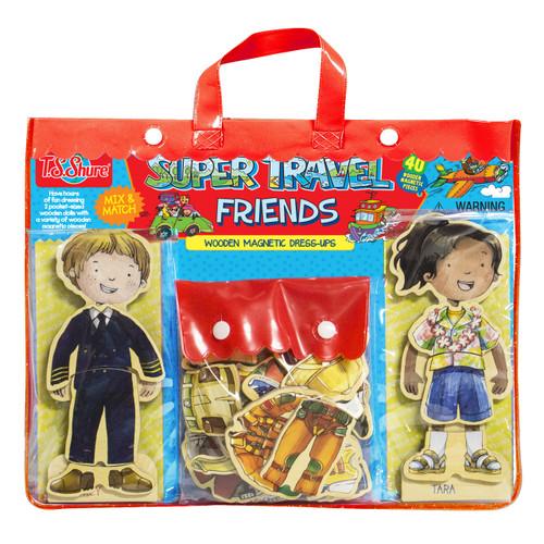 Super Travel Friends Wooden Magnetic Dress-ups   T.S. Shure