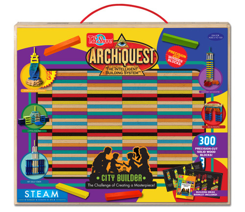 ArchiQuest Deluxe City Builder Wooden Blocks | T.S. Shure