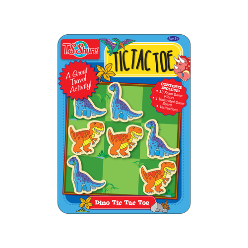 Tic Tac Toe Dinosaur Magnetic Game Mini Tin | T.S. Shure