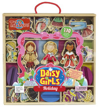 Daisy Girls Holiday Wooden Magnetic Dress-ups | T.S. Shure