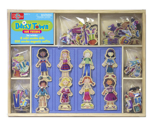 Daisy Girls Our Friends Wooden Magnetic Dress-ups | T.S. Shure
