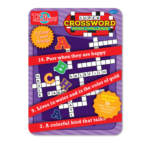 Crosswords Puzzle Activity Tin | T.S. Shure