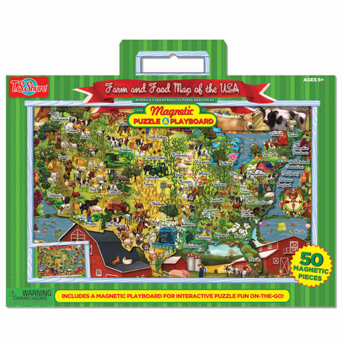 Food & Farm Magnetic Playboard & Puzzle   T.S. Shure