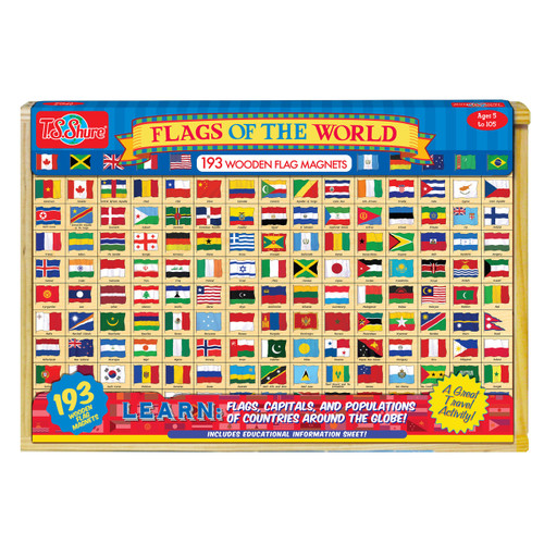 Flags of the World: 196 Wooden Magnets | T.S. Shure