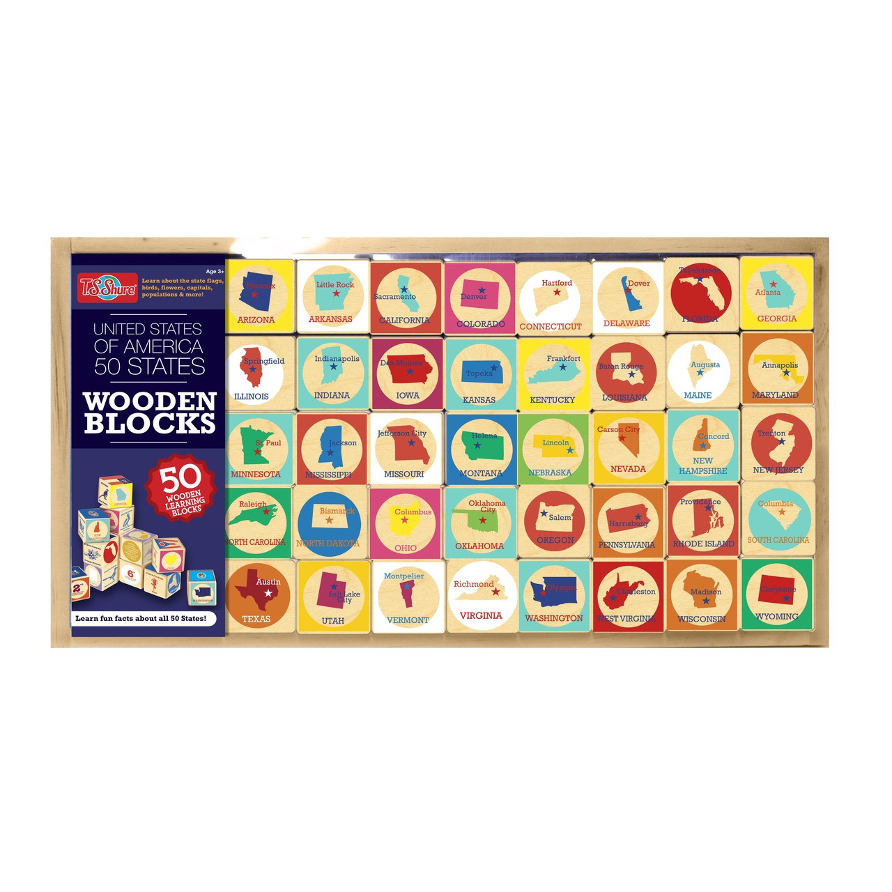 United States Wooden Learning Blocks | T.S. Shure on